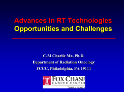 Advances in RT technologies: opportunities and