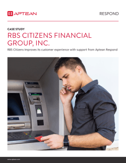 Case Study: RBS Citizens Bank