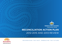 Gladstone Ports Corporation - Reconciliation Action Plan (RAP
