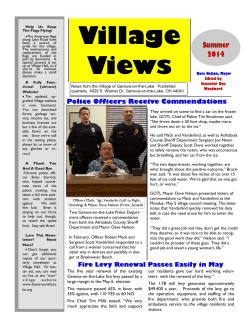 Village Views Newsletter 3rd Qtr 2014