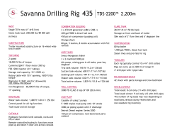 Savanna Drilling Rig 435 - Savanna Energy Services