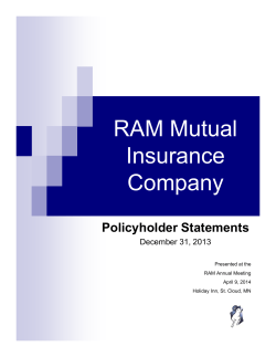 Financial Statement - RAM Mutual Insurance Company
