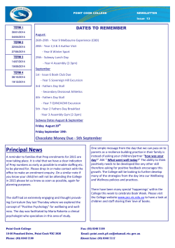 PCC Newsletter - Issue 13
