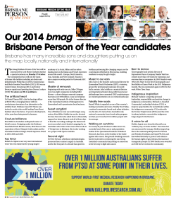Our 2014 bmag Brisbane Person of the Year candidates