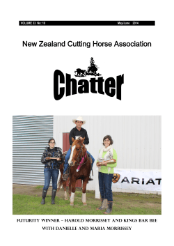 Download File - New Zealand Cutting Horse Association