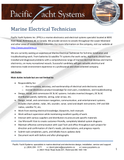 Marine Electrical Technician