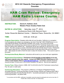 HAM Cram Review - Western Placer Amateur Radio Club