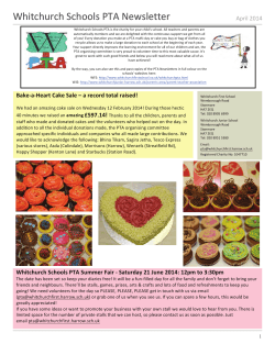 Whitchurch Schools PTA Newsletter