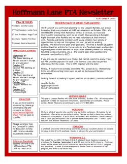 Hoffmann Lane PTA Newsletter