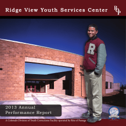 2013 Annual Report - Ridge View Academy