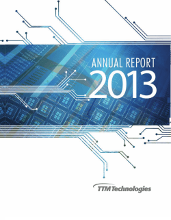 2013 Annual Report - TTM Technologies, Inc.