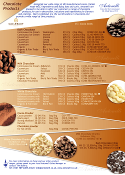 Barry Callebaut Product Sheet