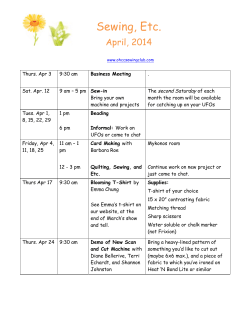 April - OHCC Sewing Club