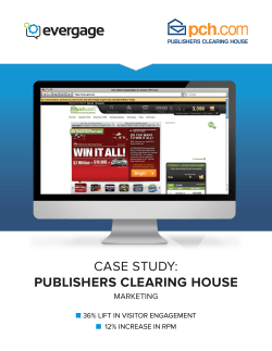 CASE STUDY: PUBLISHERS CLEARING HOUSE