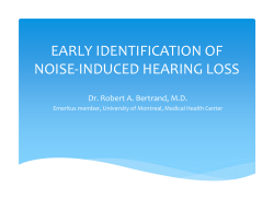 early identification of noise-induced hearing loss