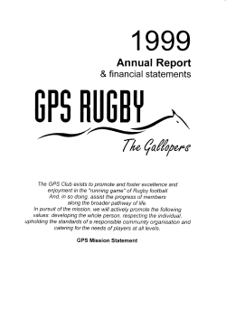 AR1999 - GPS Rugby Union Club
