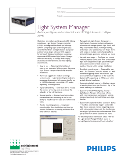 Light System Manager - Architainment Lighting