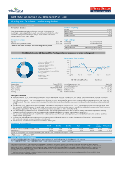 First State Indonesian USD Balanced Plus Fund