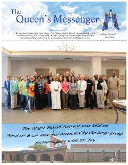 Newsletter June 2014 - Our Lady, Queen of the Universe