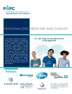PMPC - Personalized Medicine and Cancer