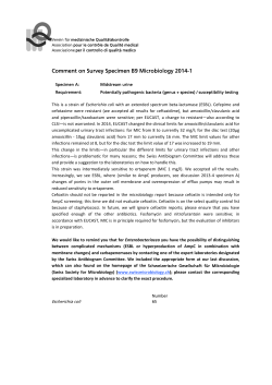 Comment on Survey Specimen B9 Microbiology 2014-1