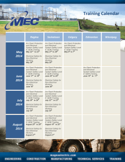 Training Calendar - Magna Electric Corporation