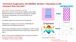 Homework Assignments QIC 890/891, Module 7: Nanowires in QIP