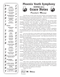 Grace Notes – Winter 2014