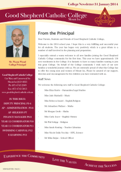 College Newsletter 31 January 2014