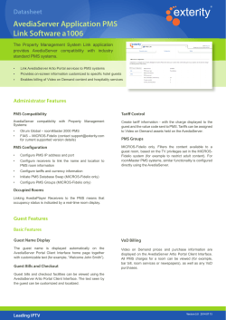 Datasheet: AvediaServer Application PMS Link Software