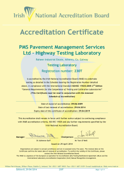 PMS Pavement Management Services Ltd - Highway Testing