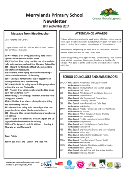 Merrylands Primary School Newsletter