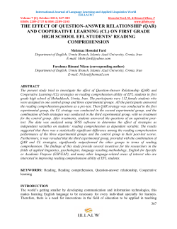 (qar) and cooperative learning - International Journal of Language