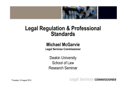 Legal Services Commissioner