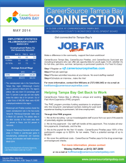 CareerSource Tampa Bay Connection May 2014