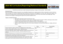 National Standards/NZ Curriculum 14
