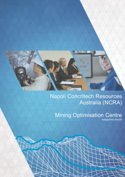 Mining Optimisation Centre - NCRA