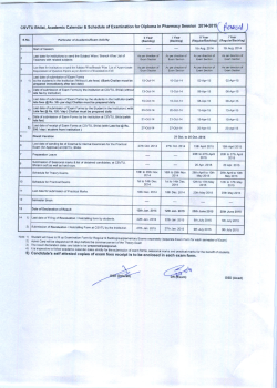 Diploma of Pharmacy (July-Dec 2014)