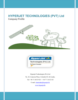 HYPERJET TECHNOLOGIES (PVT) Ltd