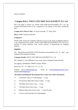 Campus Drive: WEST LINE SHIP MANAGEMENT Pvt. Ltd