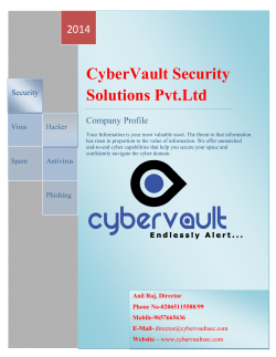 CyberVault Security Solutions Pvt.Ltd