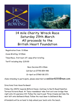PYC Wreck Race - Welsh Sea Rowing Association