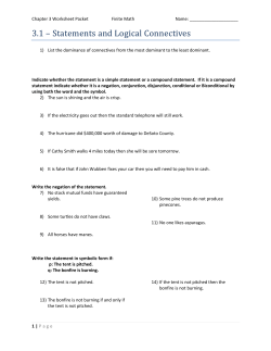 Chapter 3 Worksheet Packet