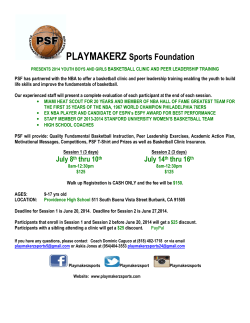 PSF Camp Flyer - Providence High School