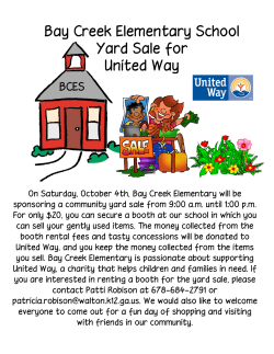 Yard Sale.psf - Bay Creek Elementary School