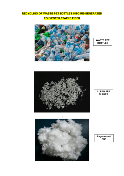 Recycling of waste PET Bottles into R - PSF