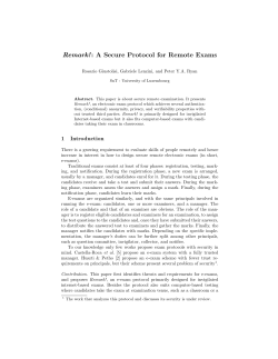 Remark!: A Secure Protocol for Remote Exams
