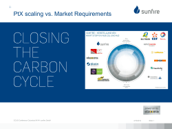 Power-to-fuel scaling vs. market requirements