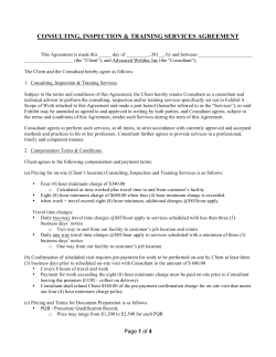 Services Agreement - Advanced Weldtec Inc