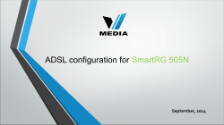 ADSL configuration for SmartRG 505N